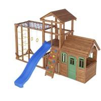 Ігровий майданчик з дерев'яним будиночком Вежа-9